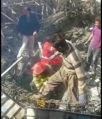 ریزش ساختمان در حال ساخت بیمارستان شهید بهشتی یاسوج