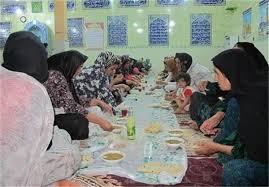 رسم افطاری دسته جمعی در یکی از روستاهای چرام