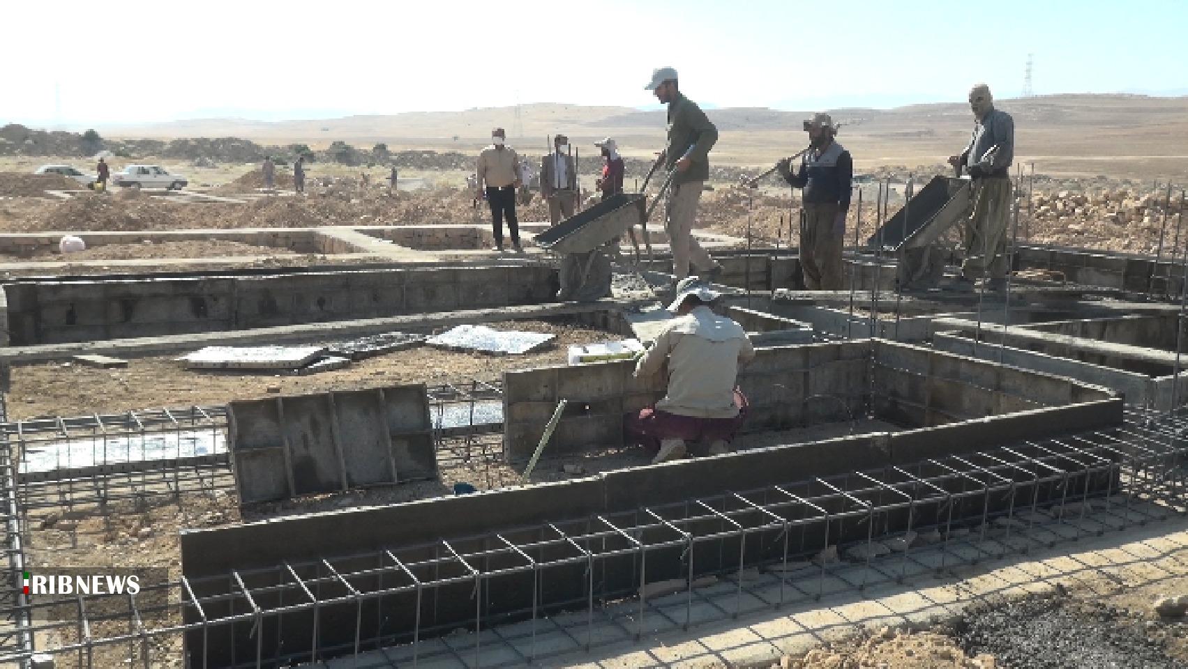 آغاز عملیات طرح اقدام ملی مسکن در شهر دهدشت